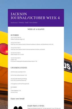 JACKSON JOURNAL/OCTOBER WEEK 4