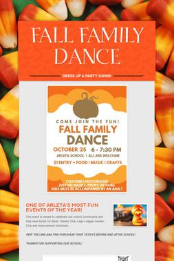 FALL FAMILY DANCE