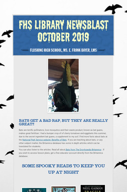 FHS Library Newsblast October 2019