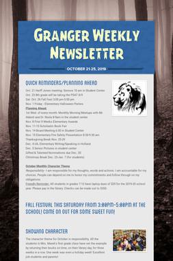 Granger Weekly Newsletter