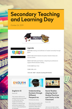 Secondary Teaching and Learning Day