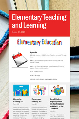 Elementary Teaching and Learning