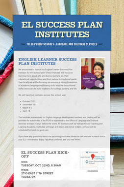 EL Success Plan Institutes