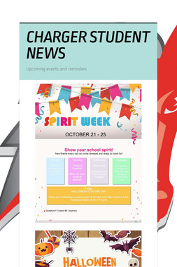 CHARGER STUDENT NEWS