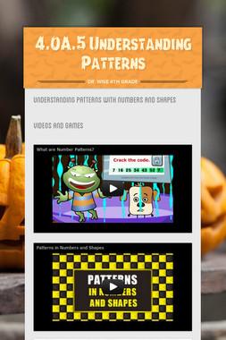 4.OA.5 Understanding Patterns