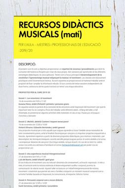 RECURSOS DIDÀCTICS MUSICALS (matí)
