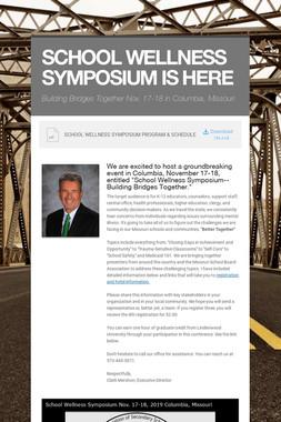 School Wellness Symposium Announced