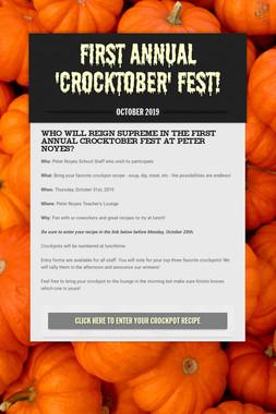 First Annual 'Crocktober' fest!