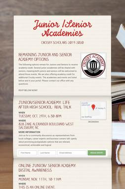 Junior /Senior Academies