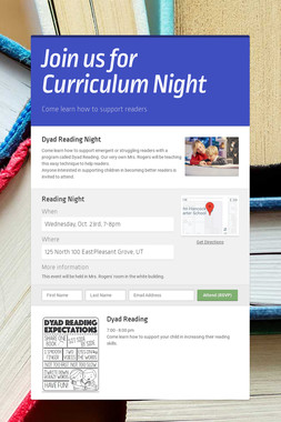 Join us for Curriculum Night