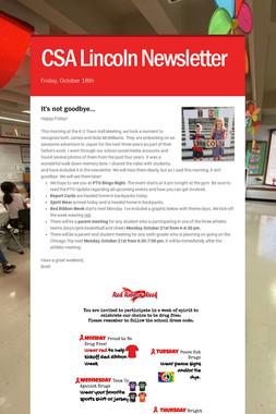 CSA Lincoln Newsletter