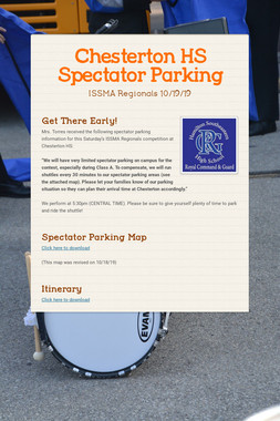 Chesterton HS Spectator Parking