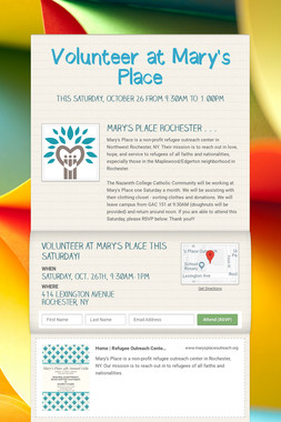 Volunteer at Mary's Place