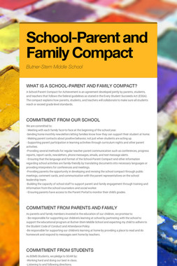 School-Parent and Family Compact