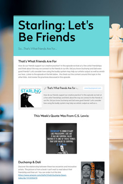 Starling: Let's Be Friends