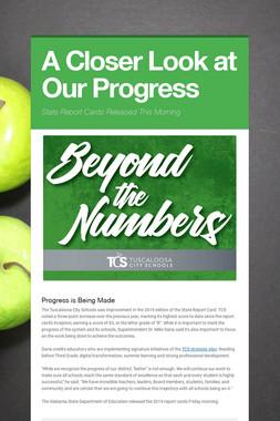 A Closer Look at Our Progress