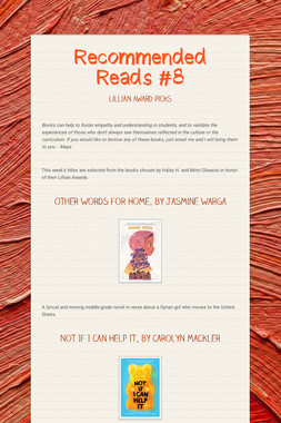 Recommended Reads #8