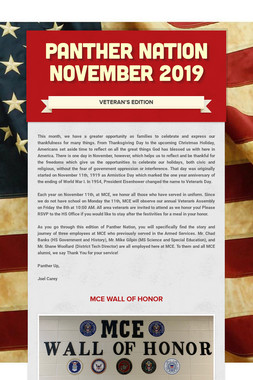 Panther Nation  November 2019