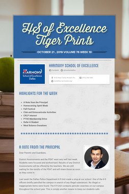 HS of Excellence Tiger Prints