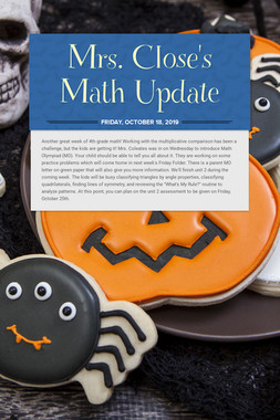 Mrs. Close's Math Update