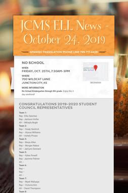 JCMS ELL News - October 24, 2019