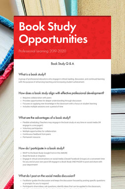 Book Study Opportunities