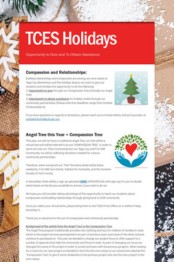 TCES Holidays