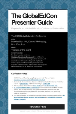 The GlobalEdCon Presenter Guide