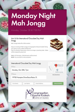 Monday Night Mah Jongg