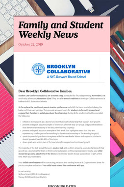 Family and Student Weekly News