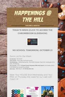 Happenings @ the Hill