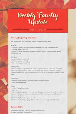 Weekly Faculty Update