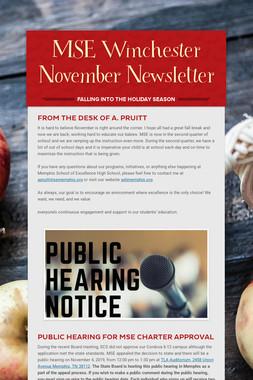 MSE Winchester November Newsletter
