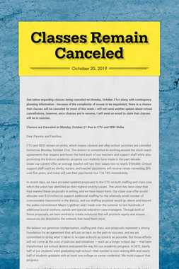 Classes Remain Canceled