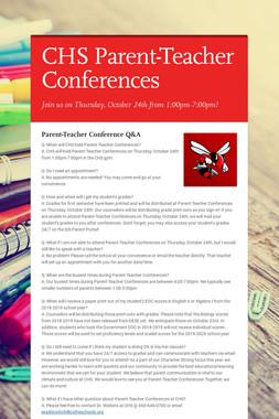 CHS Parent-Teacher Conferences