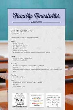 Faculty Newsletter