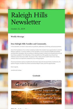 Raleigh Hills Newsletter