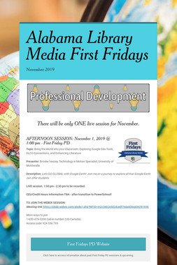 Alabama Library Media First Fridays