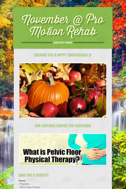November @ Pro Motion Rehab