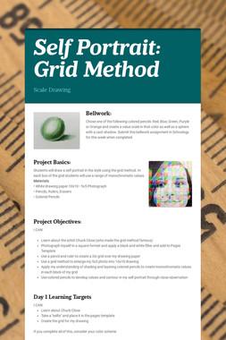 Self Portrait: Grid Method