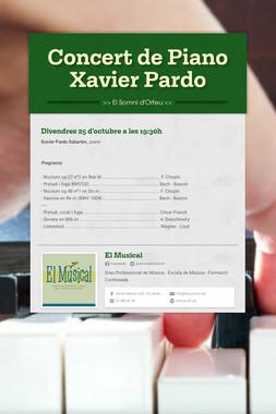 Concert de Piano  Xavier Pardo
