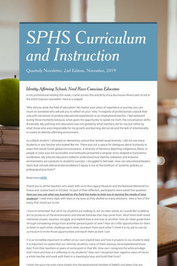 SPHS Curriculum and Instruction