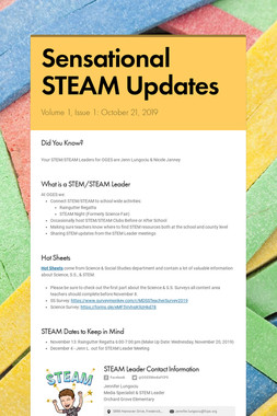 Sensational STEAM Updates