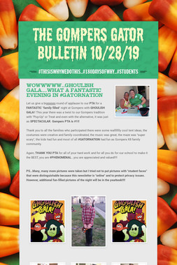 The Gompers GATOR Bulletin 10/28/19