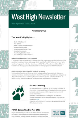 West High Newsletter