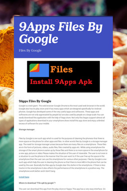 9Apps Files By Google