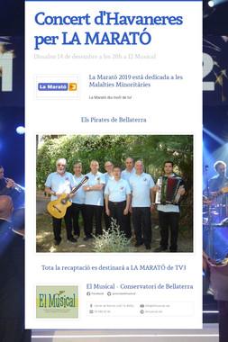 Concert d'Havaneres per LA MARATÓ