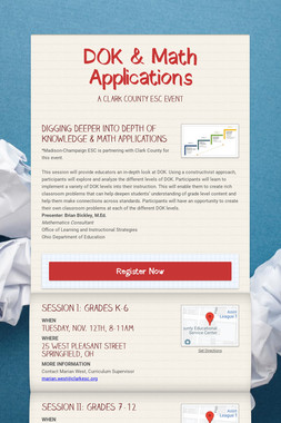 DOK & Math Applications