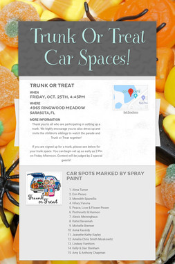 Trunk Or Treat Car Spaces!