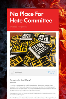 No Place For Hate Committee